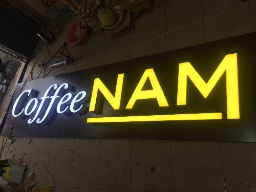 Chữ Mica quán coffee