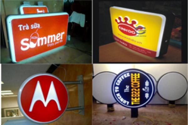 Hộp đèn quảng cáo 2 mặt