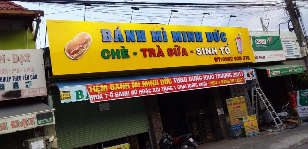 Bảng hiệu tiệm bánh mì - BIỂN HIỆU ALU GẮN CHỮ NỔI